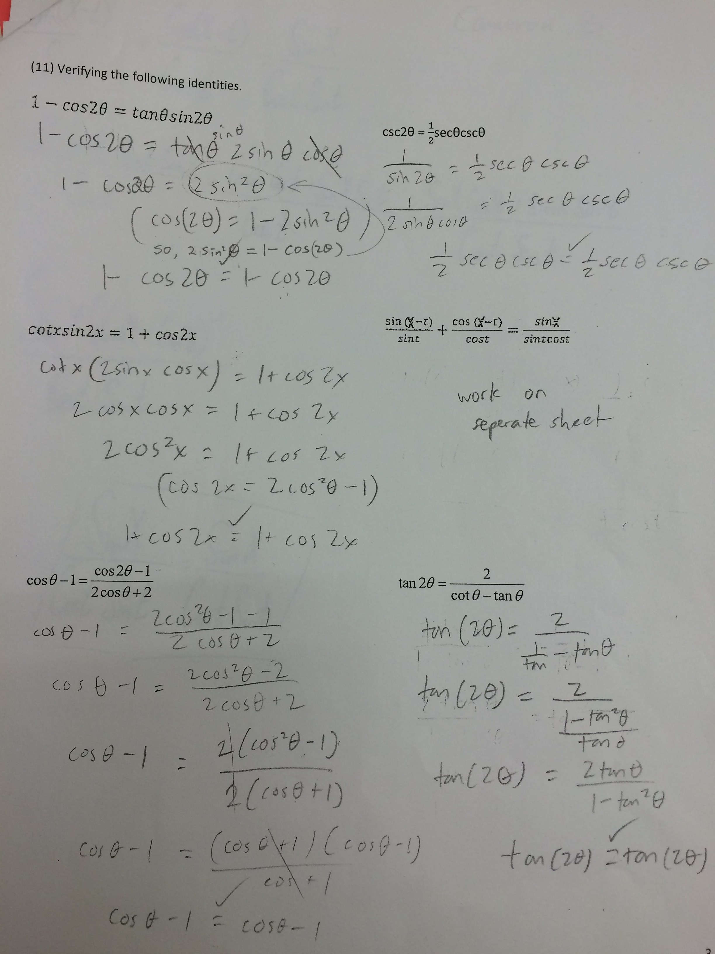 worksheet 5.3 Solving Trig Equations Practice Worksheet 1 Answers clayton valley charter high school half page 4 key jpg practice sum difference double
