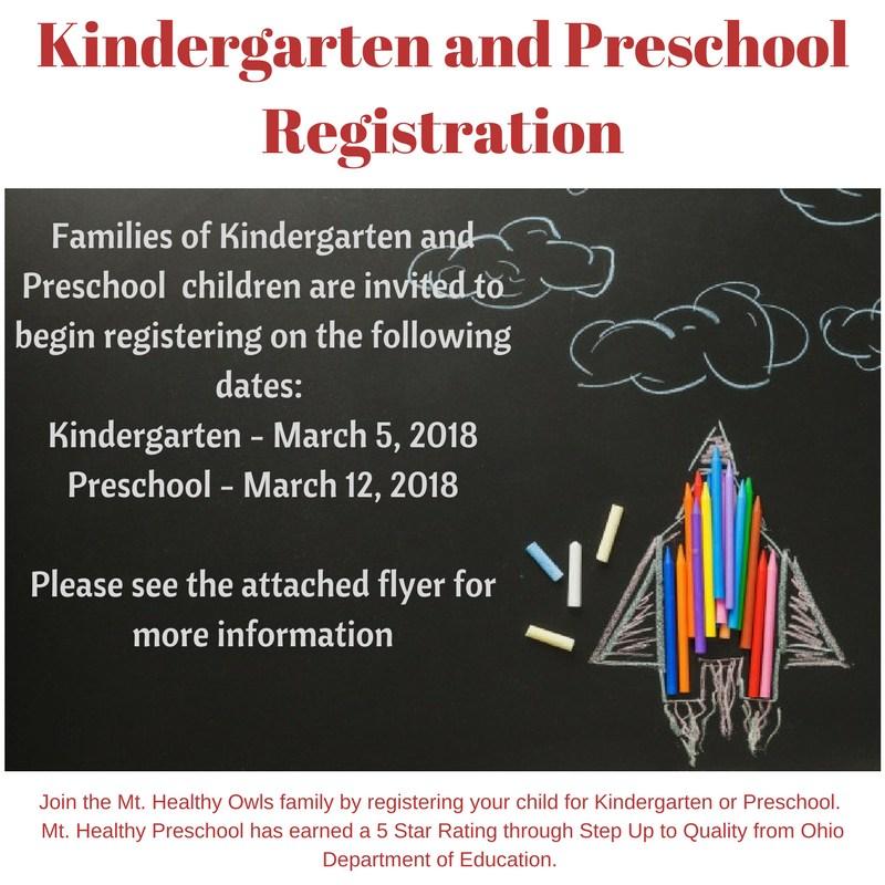 Kindergarten and Preschool Registration Featured Photo