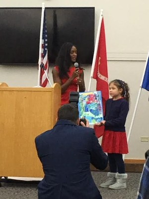Second grader, Kaitlin Buchholz, Recognized at Veterans Day Ceremony