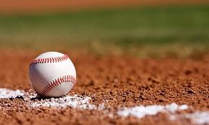Baseball on a field