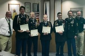 Canon City High School JROTC Cadets Honored