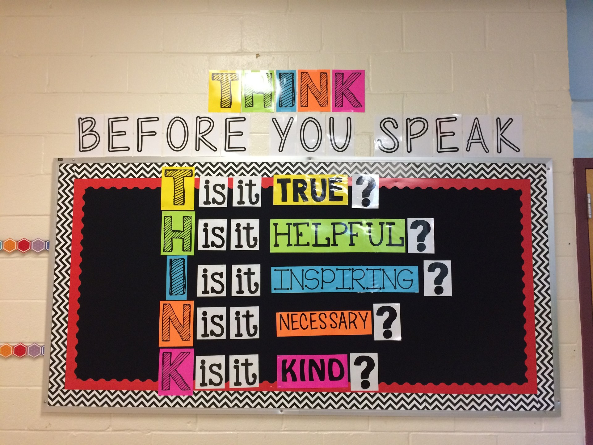 think before you speak bulletin