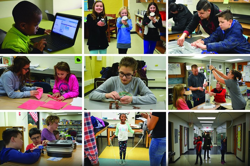 District families enjoy STEM Night at CMS Thumbnail Image