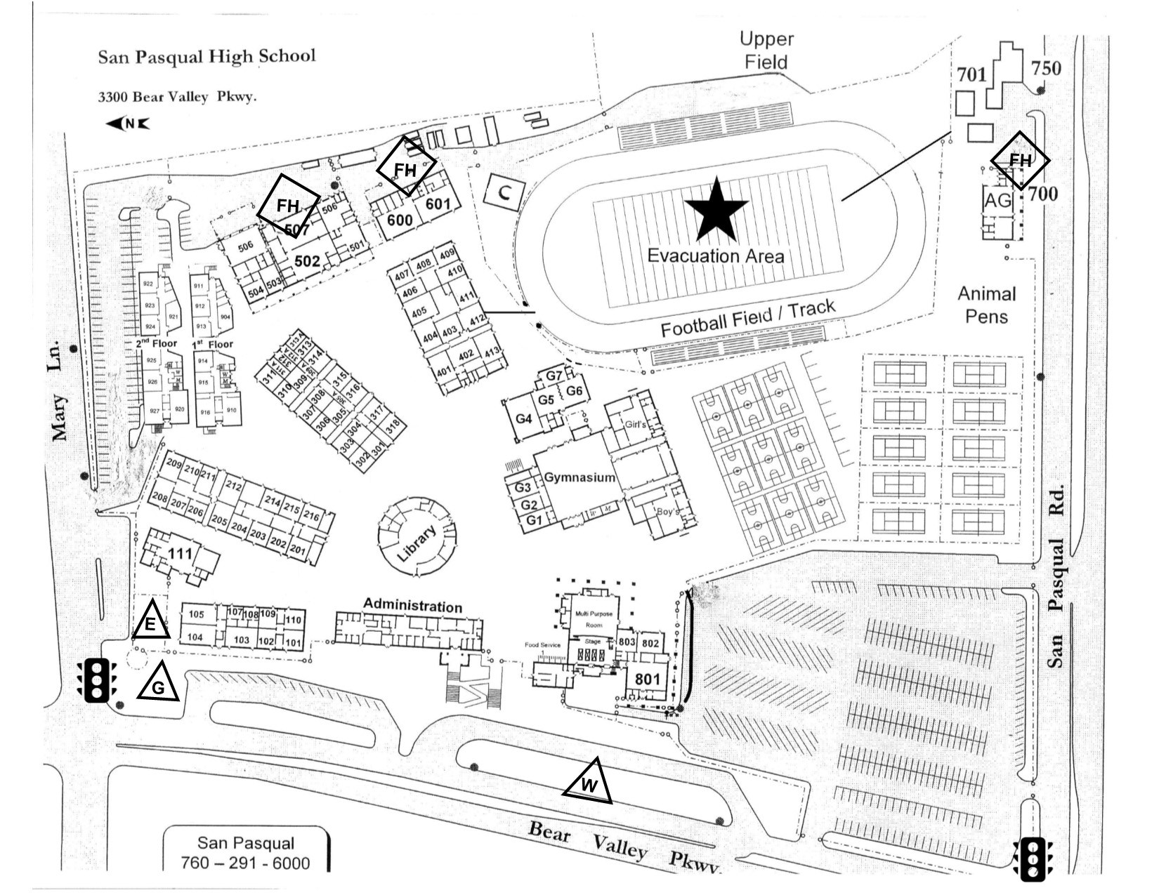 Cal Tech Campus Map.Campus Map Our School San Pasqual High