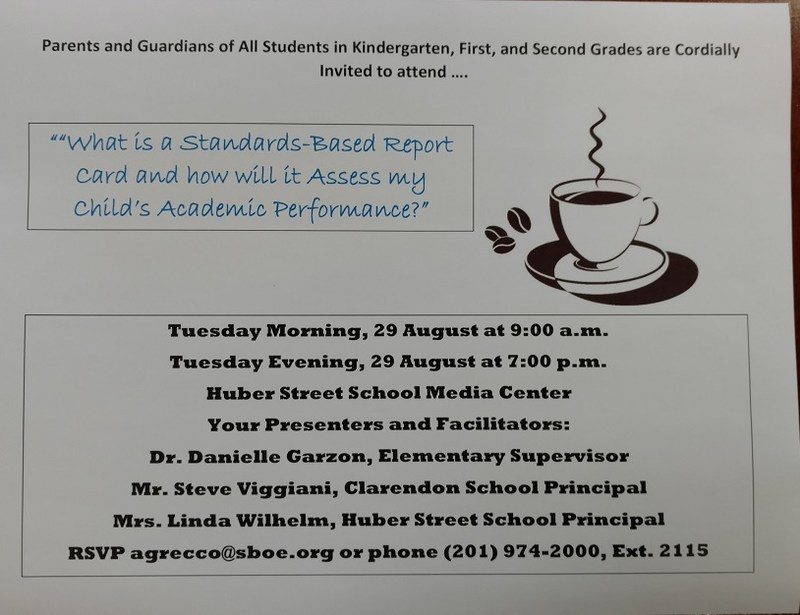Please Join Us For A Coffee with the Elementary School Principals and Elementary Supervisor to Discuss