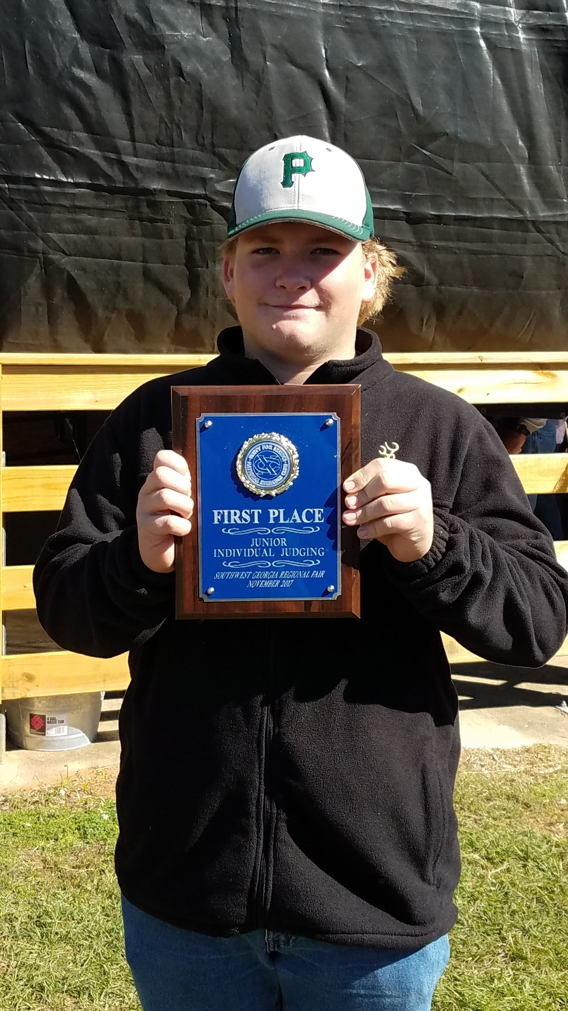 Andrew Hartsfield placed first in the Junior Division in Livestock Judging.