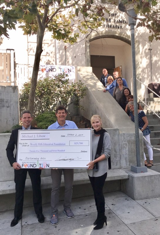 BHEF Receives Donation to Support BHHS Performing Arts Thumbnail Image