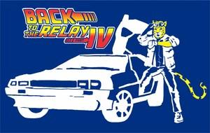 Relay Recess Shirt Logo with Jaguar and Time Machine