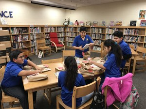 Pictured are Leal Elementary Book Club members.