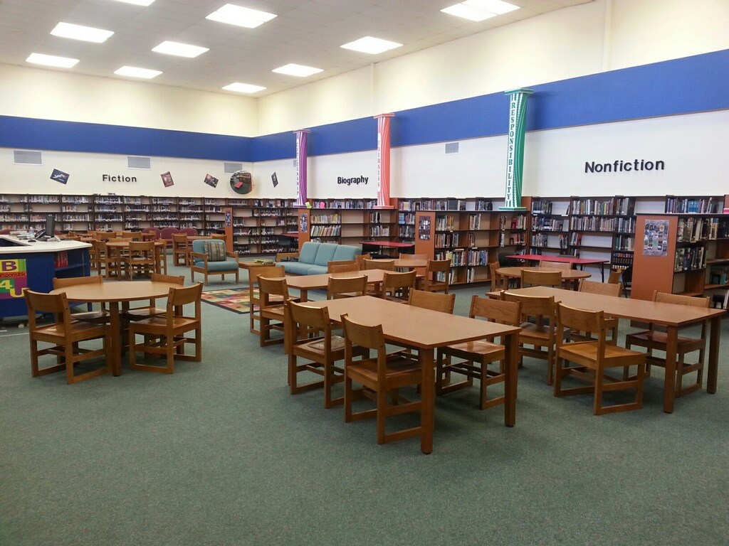 Picture of JMS Library with tables and chairs
