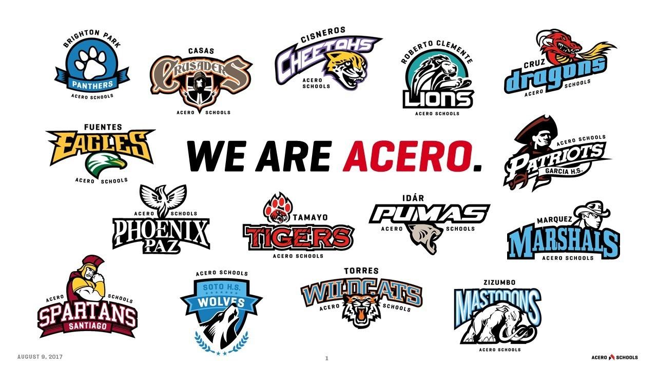 Acero school logos