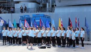 ESHS Choir at USS Missouri in Hawaii 2017.jpg