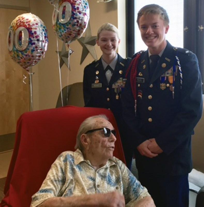 Oakland JROTC students help veteran celebrate 100th birthday Thumbnail Image