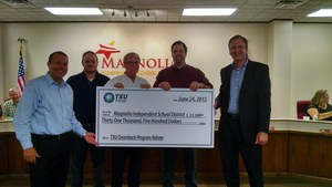 TXU Board Presentation of rebate check.jpg