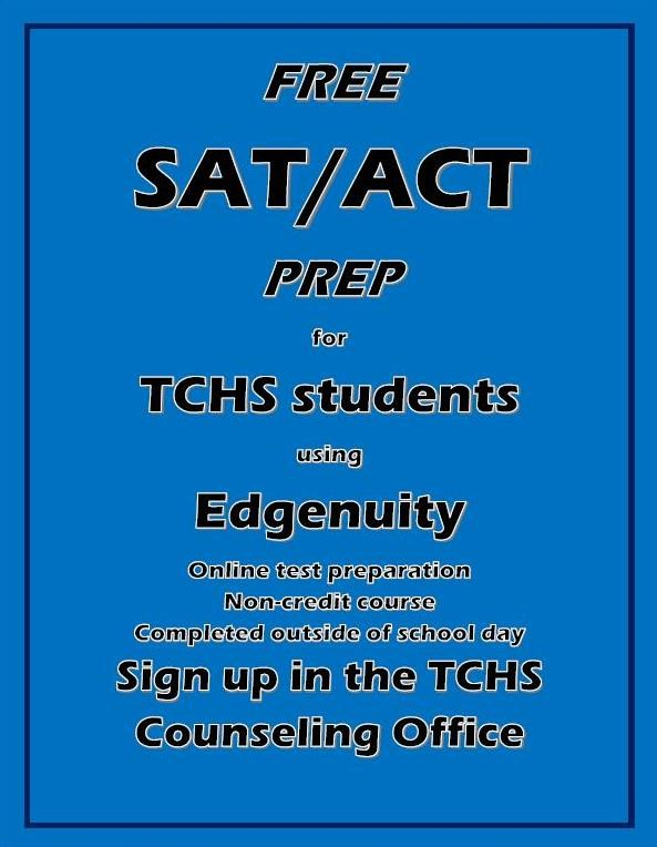 ACT/SAT Information & Dates – Counseling/Guidance Office