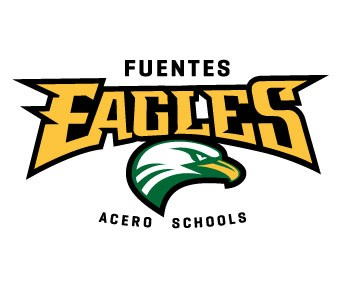 The Fuentes Eagles logo, which shows the word Eagles above the head of an eagle.
