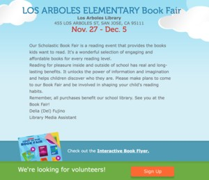 Los Arboles Elementary Book Fair News