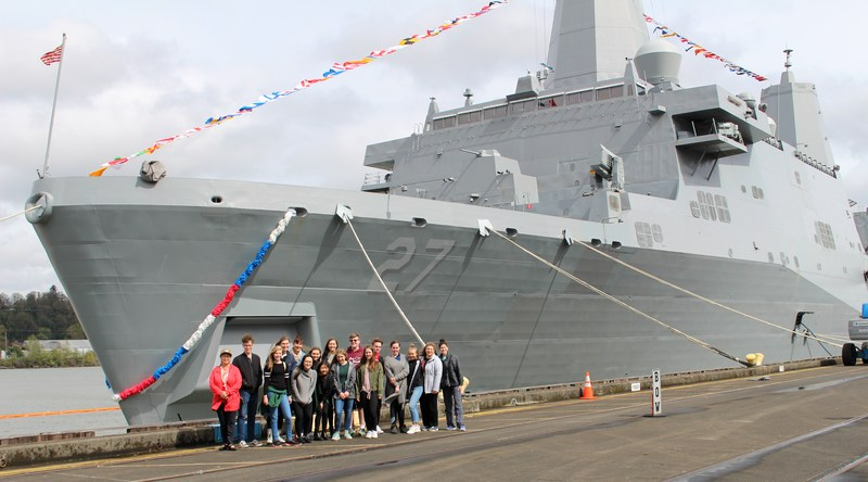 Portland Christian Schools honors the USS Portland (LPD-27) Thumbnail Image