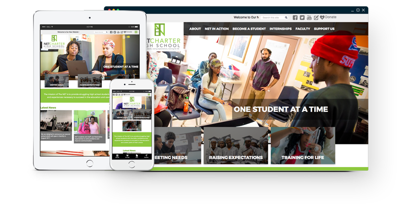 The Net Charter High School Website