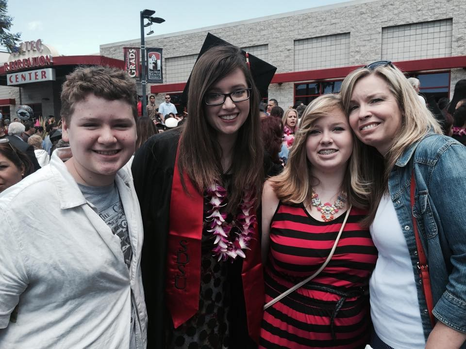 kate graduates San Diego State in 2015