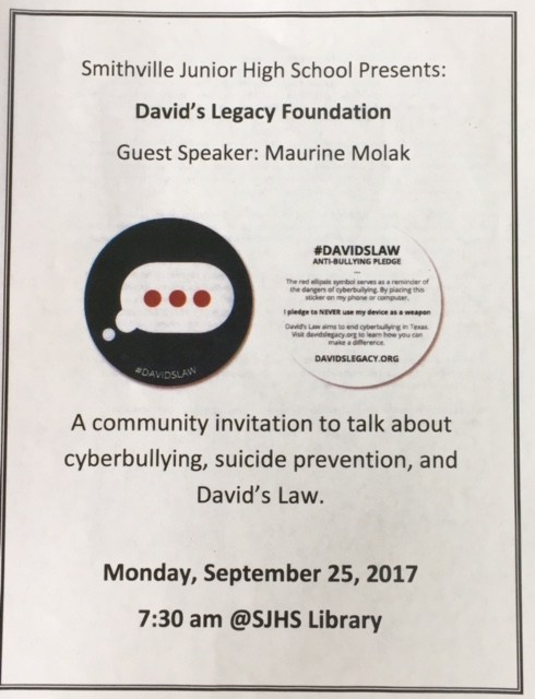 SJHS Hosts David's Law Discussion Thumbnail Image