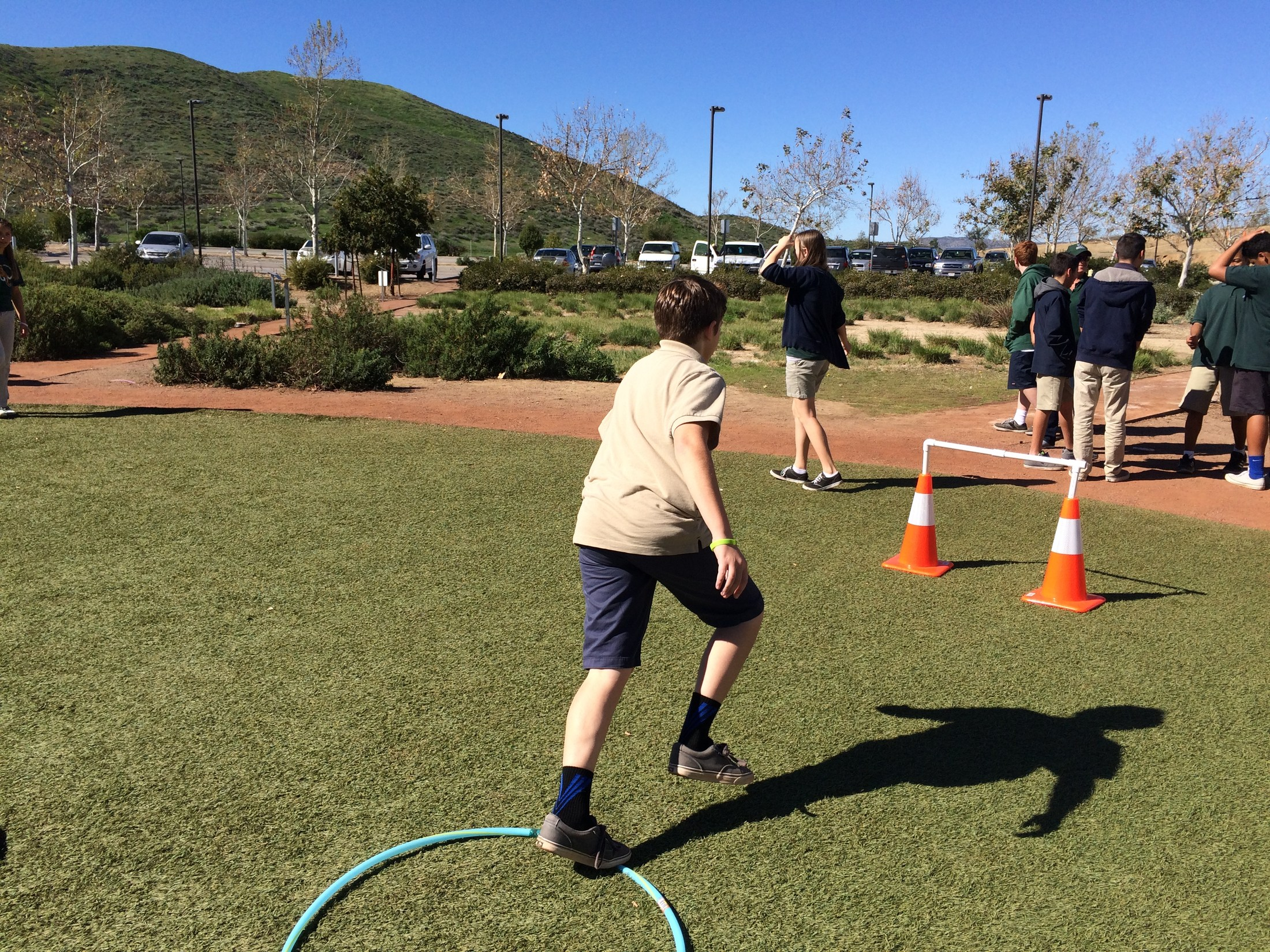 "students did a ""Mammoth Run"" which was a fun and challenging obstacle course!"
