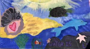 water is life art by students