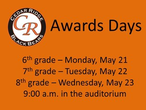 Dates for awards days