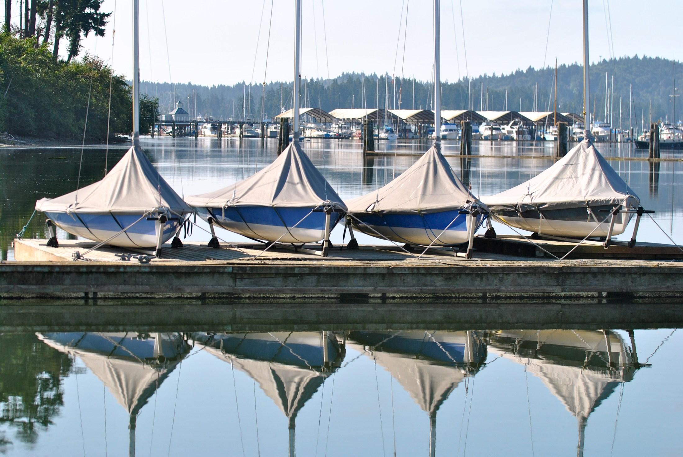 Sailboats, Poulsbo, WA.