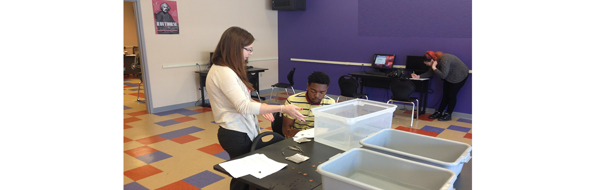 Invictus High School Cleveland hands on science lab