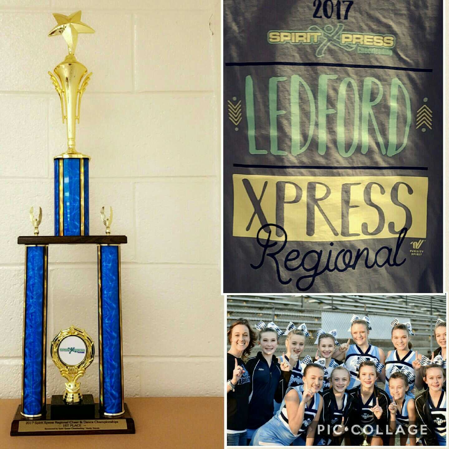 Spirit Xpress Cheerleading Competition -- 1st place!
