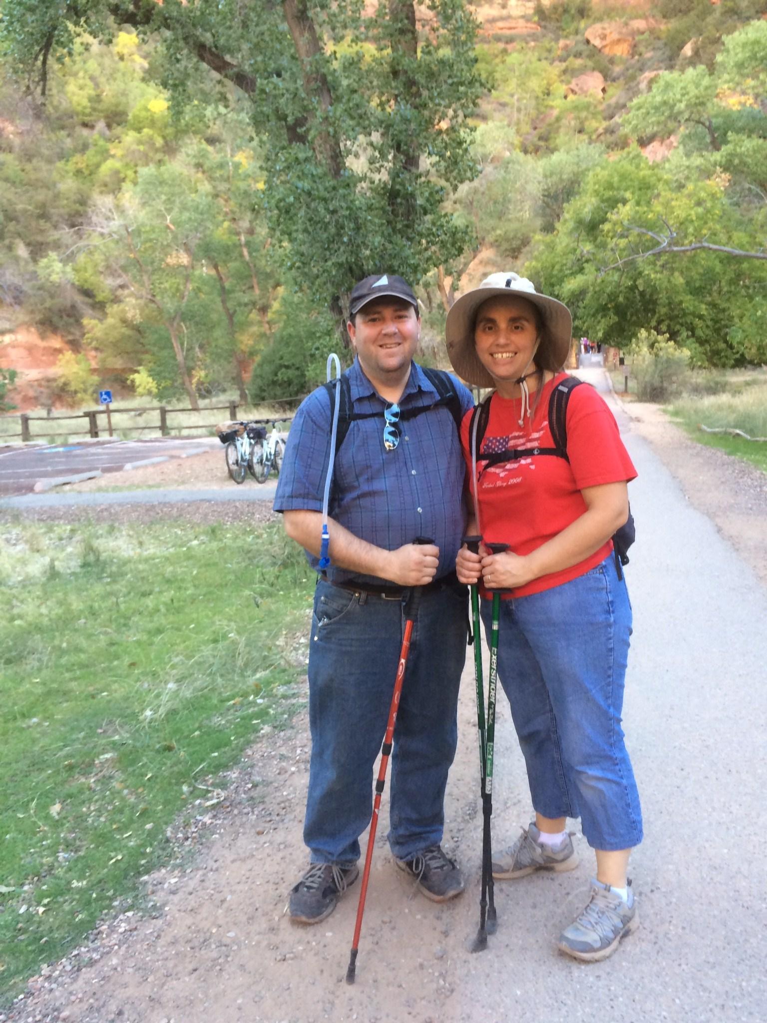 Mr oviatt on a hike