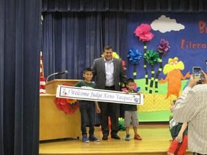 Welcome Judge Keno Vasquez to Literacy Night