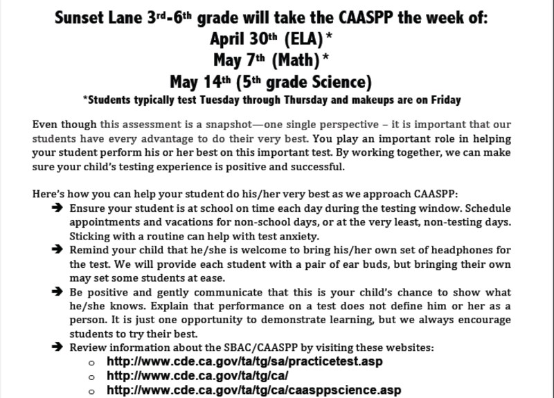 Seahawks in grades 3-6 will begin testing on May 1st Featured Photo