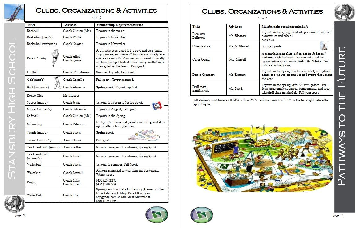 Clubs and organizations page 2