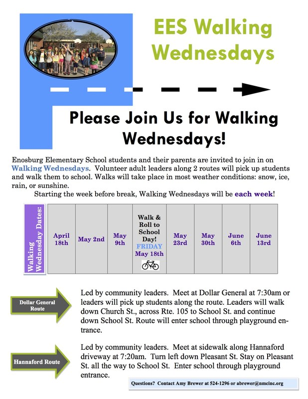 Information on Walking Wednesdays