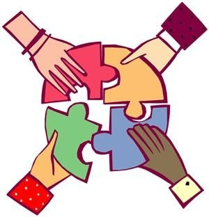 hands holding puzzle pieces clipart