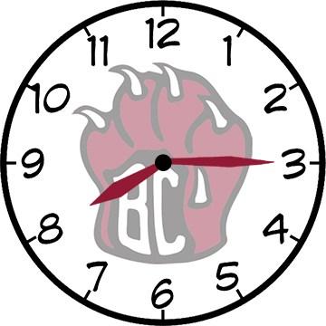 BC 8:15 clock