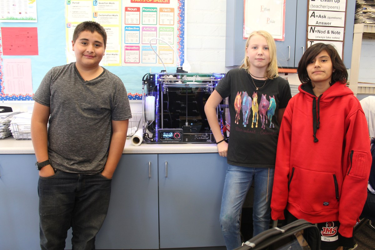 Students with 3D Printer