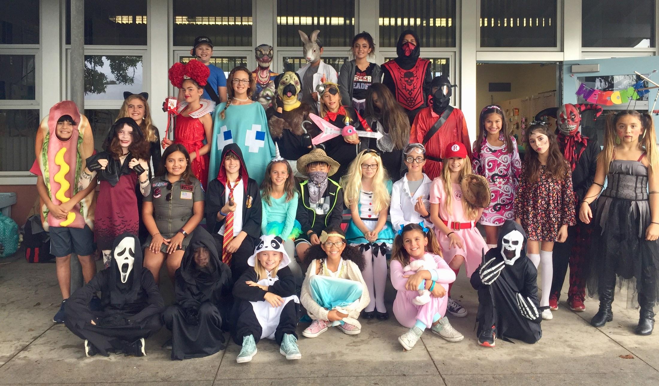 Halloween class photo