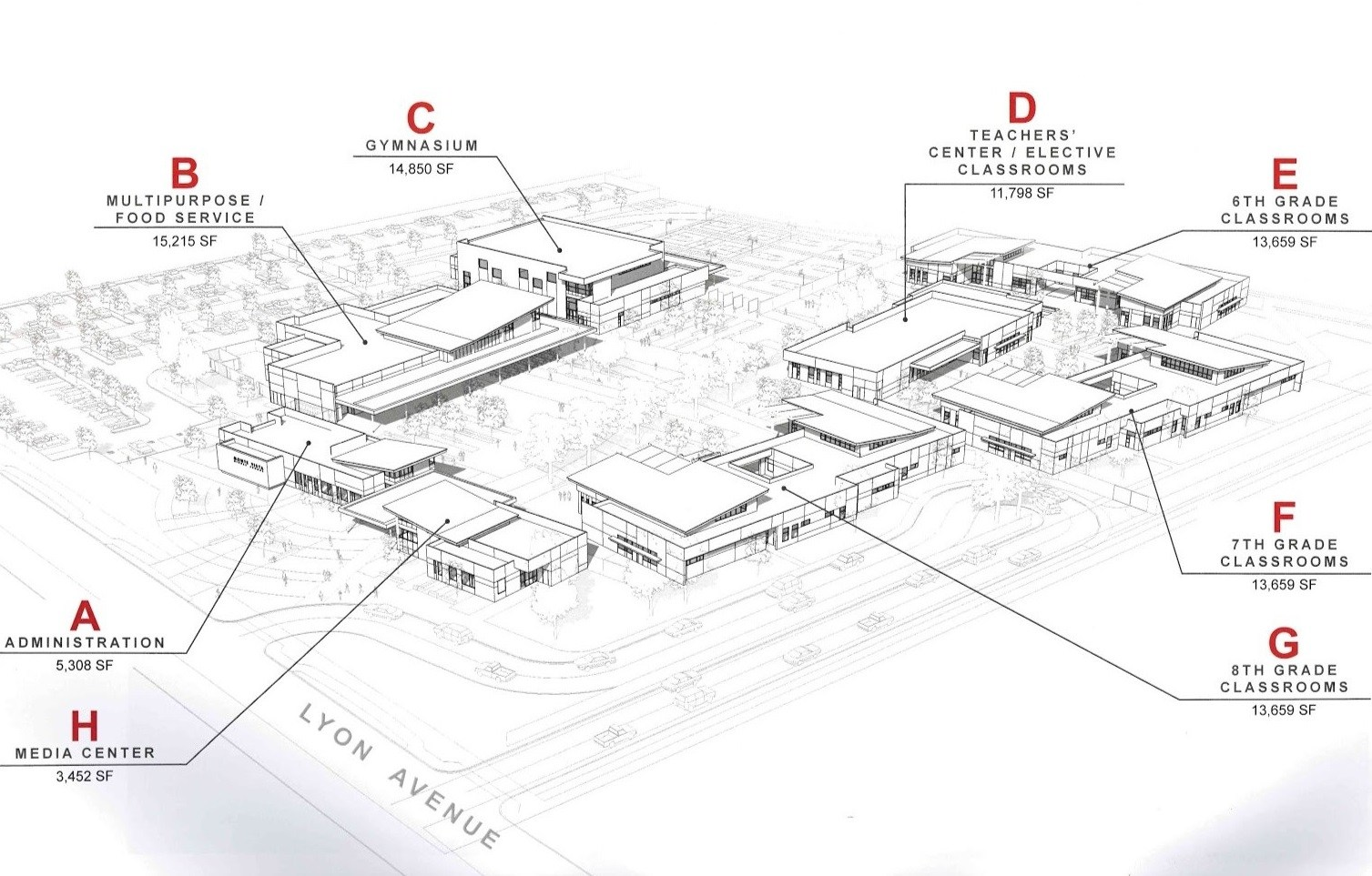 New Middle School Conceptual Drawing