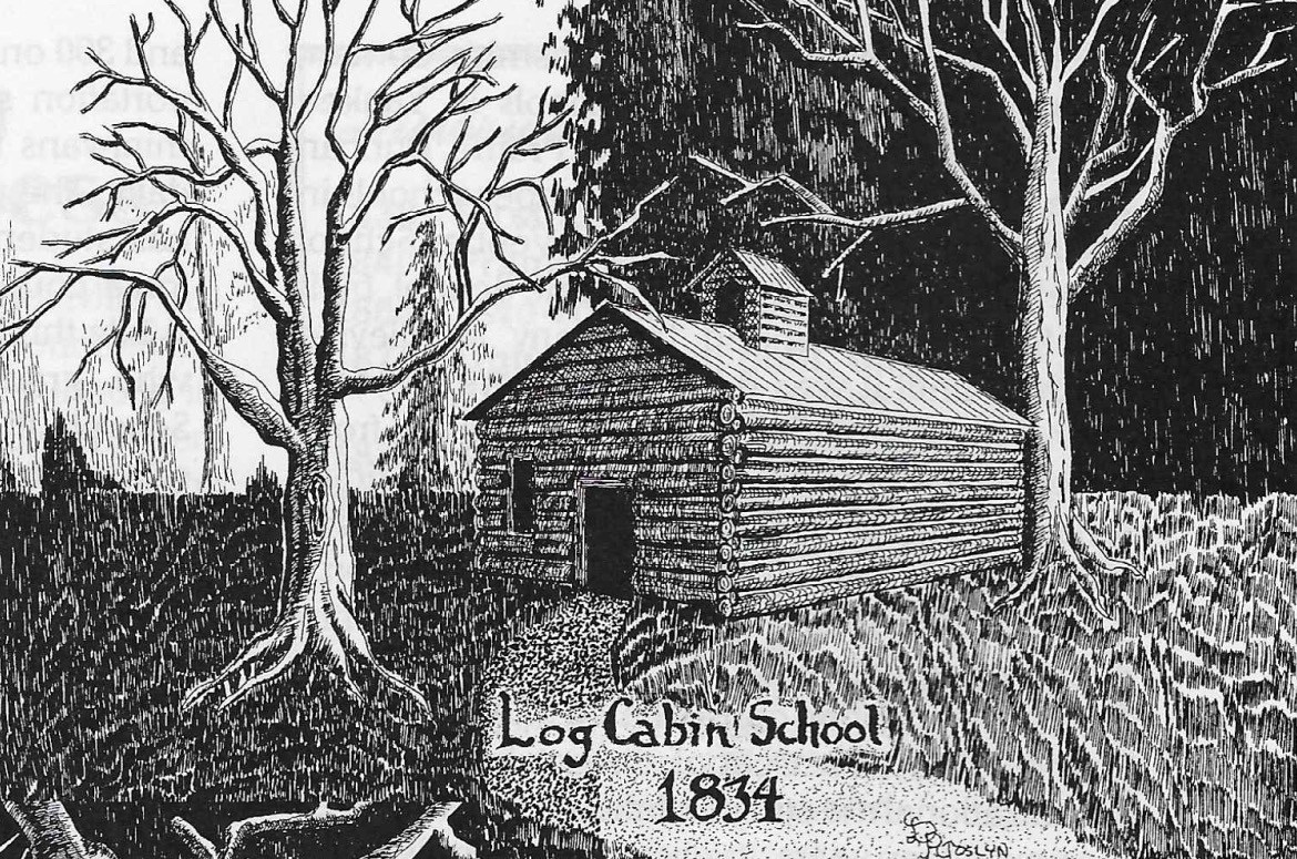 Log Cabin school~ 1834