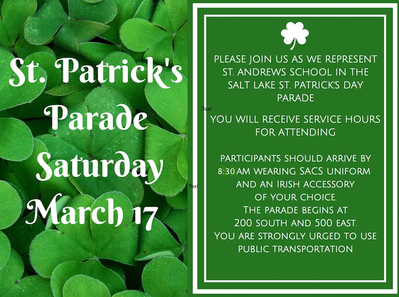 Saturday, March 17th: Hibernian Society St. Patty's Day Parade! Image