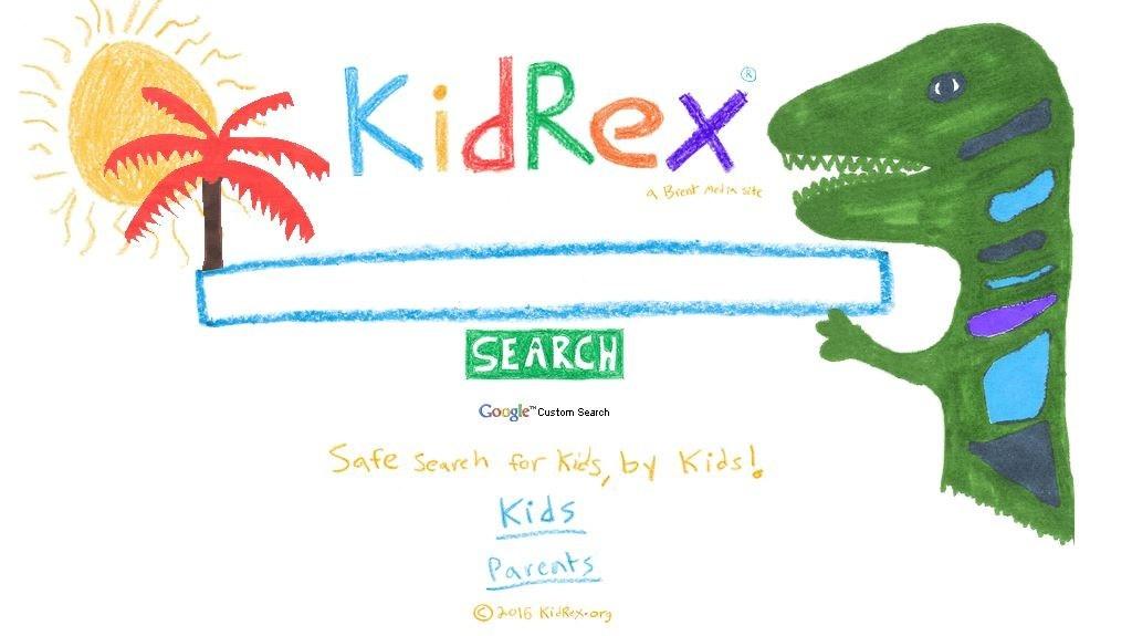 Kid Rex Search Engine Logo Icon