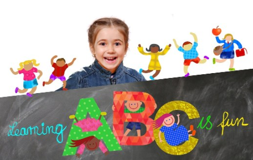 Learning ABC is fun clipart