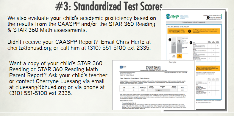 #3: State test scores