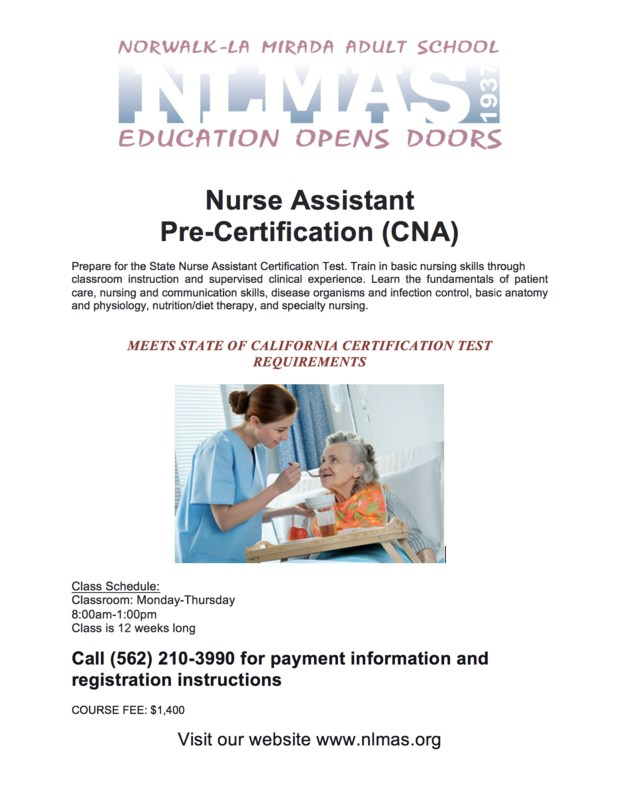 CNA: Nurse Assistant Pre-Certification! Featured Photo