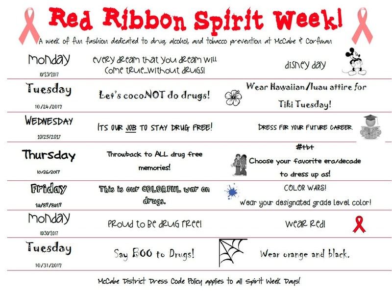 Red Ribbon Spirit Week! Thumbnail Image