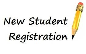 New Student Registration text image