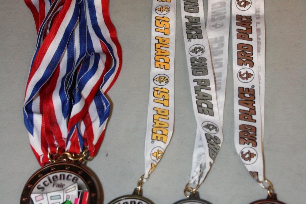 First, Second, and Third Place Medals